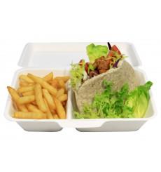 Boîte à Hamburger Bio Canne à Sucre 18x12,5x7cm (600 Unités)