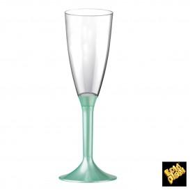 Flûte Champagne Plastique Pied Tiffany Perlé 120ml (20 Utés)