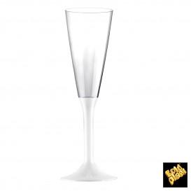 Flûte Champagne Plastique Blanc 160ml (20 Unités)