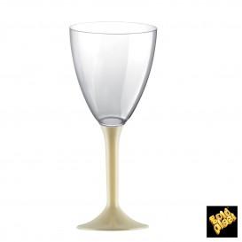 Flûte Plastique Vin Pied Crème 180ml (20 Unités)