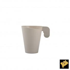 Tasse Plastique Design Crème 72ml (12 Unités)