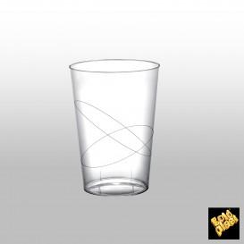 Verre Plastique Moon Transparent PS 230ml (50 Unités)