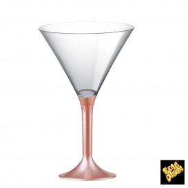 Flûte en Plastique Cocktail Pied Pêche Perlé 185ml (20 Unités)
