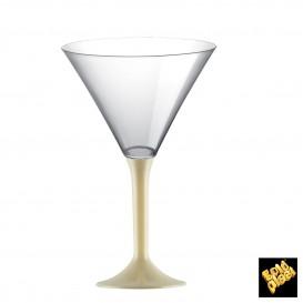 Flûte en Plastique Cocktail Pied Crème 185ml (20 Unités)