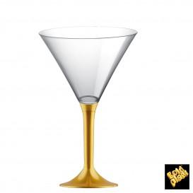 Flûte en Plastique Cocktail Pied Or 185ml (200 Unités)