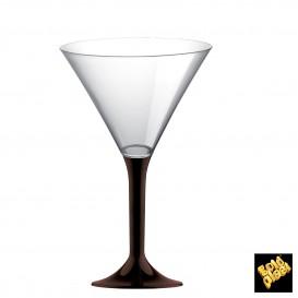 Flûte en Plastique Cocktail Pied Marron185ml (20 Unités)