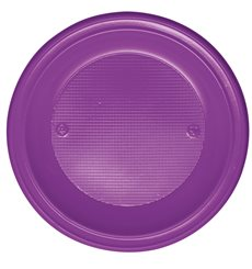 Assiette Plastique Fond Violette PS 220mm (600 Unités)