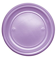 Assiette Plastique Plate Violette PS 220mm (780 Unités)