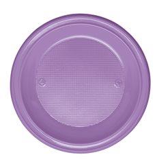 Assiette Plastique Fond Violette PS 220mm (30 Unités)