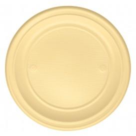 Assiette Plastique PS Plate Crème Ø220mm (30 Unités)