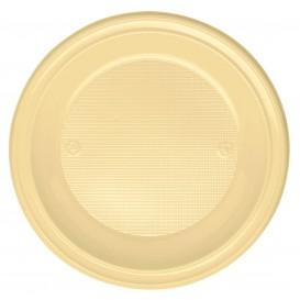 Assiette Plastique PS Creuse Crème Ø220mm (600 Unités)