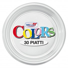 Assiette Plastique PS Creuse Transparent Ø220mm (30 Unités)