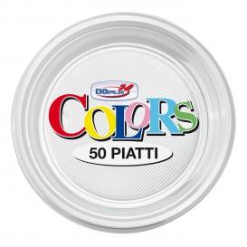 Assiette Plastique PS Plate Transparent Ø170mm (50 Unités)