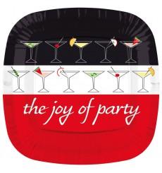 Assiette Carton Carré Plate ''Joy of Party'' 170mm (200 Unités)