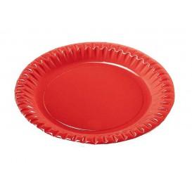"""Assiette ronde Carton """"Party"""" Rouge 230mm (300 Unités)"""