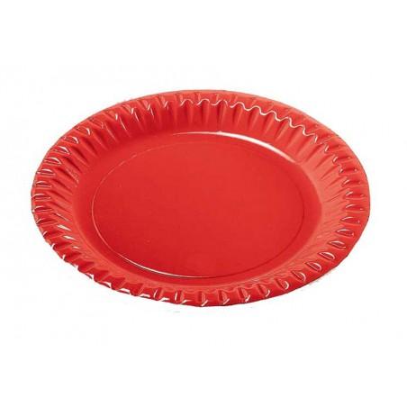 Assiette ronde Carton Rouge 230mm (10 Unités)