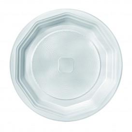 """Assiette Plastique PP Blanche Creuse """"Deka"""" 220mm (100 Unités)"""