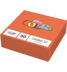 Serviette Papier 2 épaisseurs Orange 33x33cm (50 Unités)