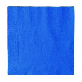 Serviette Papier 2 épaisseurs Bleu Foncé 33x33cm (1200 Unités)