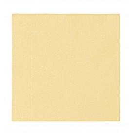 Serviette Papier 2 épaisseurs Crème 33x33cm (50 Unités)