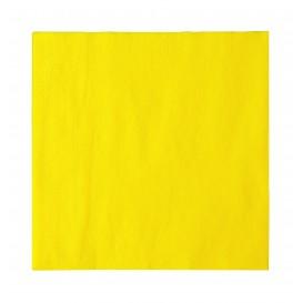 Serviette Papier 2 épaisseurs Jaune 33x33cm (1200 Unités)