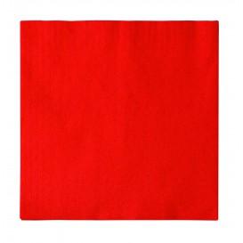 Serviette Papier 2 épaisseurs Rouge 33x33cm (50 Unités)