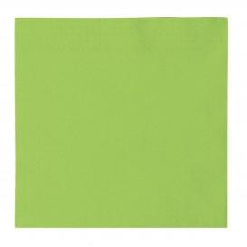 Serviette Papier 2 épaisseurs Vert citron 33x33cm (50 Utés)