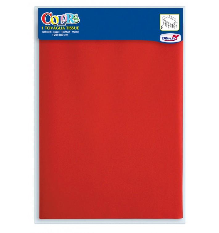 Set de Table papier rouge 1,2x1,8m (24 Utés)