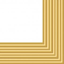 Serviette Papier 2 épaisseurs Or 33x33cm (480 Unités)