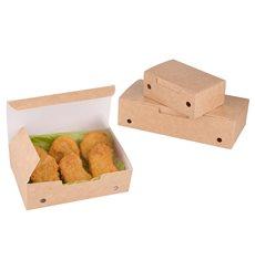 Boîte pour repas à emporter Moyen Kraft 145x90x45mm (450 Utés)