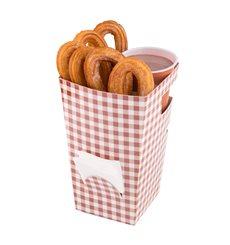Boîte Carton pour Churros avec Chocolat 78x78x179mm (500 Uds)