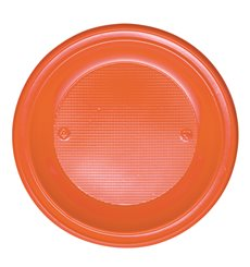 Assiette Plastique PS Creuse Orange Ø220mm (30 Unités)