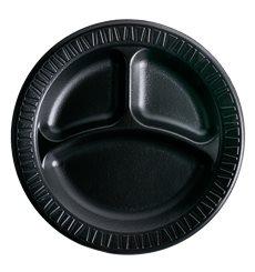 """Assiette Thermique FOAM """"Quiet Classic"""" 3 C. Noir Ø230mm (125 Unités)"""