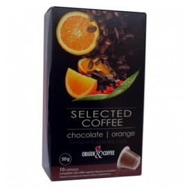 Capsule Nespresso* Compatible - Chocolat Orange (10 unités)