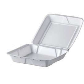 Boîte en FOAM MenuBOX Blanc 240x235mm (100 Unités)