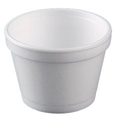 Pot en Foam Blanc 8OZ/355ml Ø108mm (25 Unités)