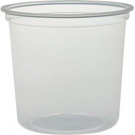 """Récipient en Plastique PP """"Deli"""" 24Oz/710ml Transp. Ø120mm (25 Unités)"""