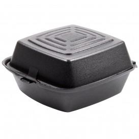 Boîte à HAMBURGER FOAM Noir 150x150x80mm (125 Unités)