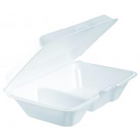 Boîte en FOAM LunchBox 2 C. Blanc 230x160mm (200 Utes)