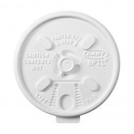"""Couvercle plastique PS """"Lift n' Lock"""" avec Rabat Blanc Ø8,1cm (1000 Unités)"""