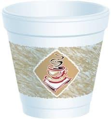 """Gobelet isotherme de FOAM """"Café"""" 4Oz/118 ml (1000 Unités)"""
