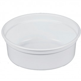 """Récipient en Plastique PP """"Deli"""" 8Oz/266ml Blanc Ø120mm (25 Unités)"""