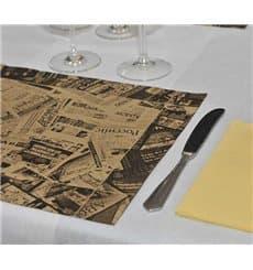 """Set de Table papier 30x40cm """"Presse"""" Kraft 50g (500 Utés)"""