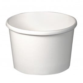 Pot en Carton Blanc 8Oz/273ml Ø9,1cm (25 Utés)