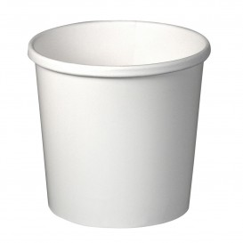 Pot en Carton Blanc 12Oz/355ml Ø9,1cm (25 Utés)