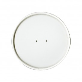Couvercle Plat en Papier Blanc Ø9,8cm (500 Utés)