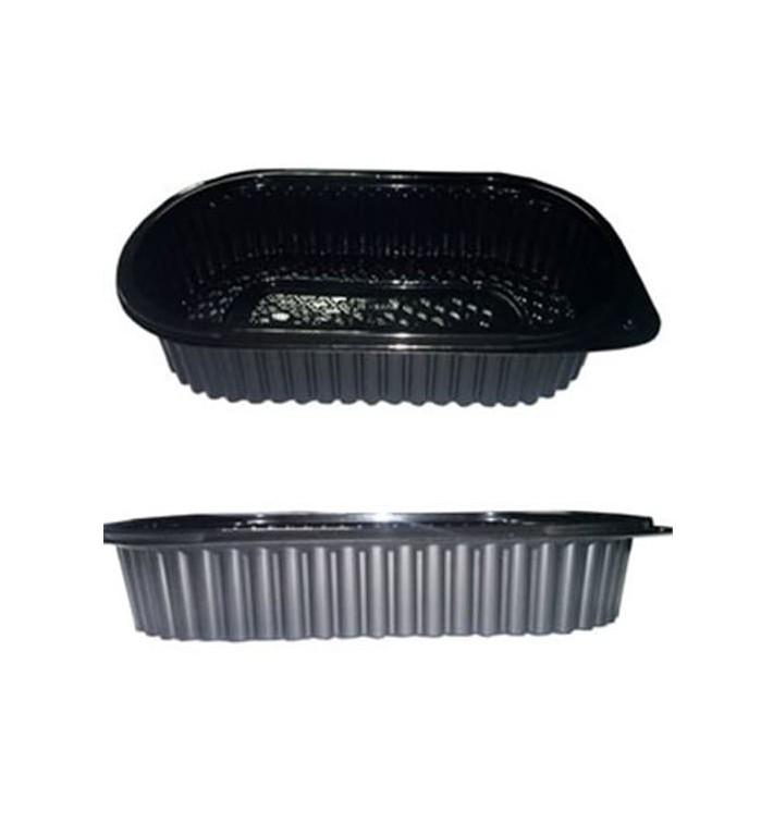 Barquette Plastique Noire PP 1000ml (400 Unités)