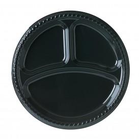 Assiette Plastique Party PS Plate Noir 3C Ø260mm (500 Unités)