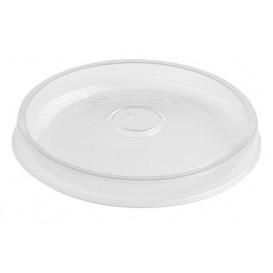 Couvercle Plat en Plastique PP Translucide Ø9,1cm (500 Utés)