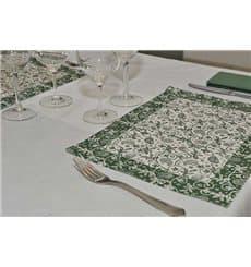 """Set de Table papier 30x40cm """"Cachemire"""" Vert 50g (2500 Utés)"""
